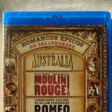 Cine: PACK BAZ LUHRMANN (3 BLURAY). - AUSTRALIA - MOULIN ROUGE - ROMEO + JULIETA PRECINTADO. Lote 152176794