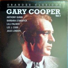 Cine: PACK GARRY COOPER VOL 1 (EL HOMBRE DEL OESTE, SOPLO SALVAJE,CLANDESTINO Y CABALLERO). Lote 153600568