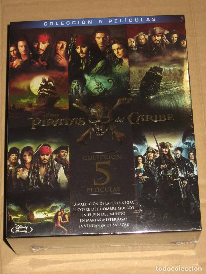 (SIN ABRIR) PIRATAS DEL CARIBE - COLECCIÓN 5 PELÍCULAS ___ BLU-RAY (Cine - Películas - Blu-Ray Disc)