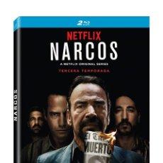 Cine: NARCOS TEMPORADA 3 COMPLETA 2 BLU-RAY DISC NUEVO PRECINTADO. Lote 162480280