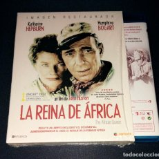 Cine: LA REINA DE ÁFRICA BLU-RAY + LIBRETO - THE AFRICAN QUEEN JOHN HUSTON HUMPHREY BOGART KATHARINE HEPB. Lote 162099358