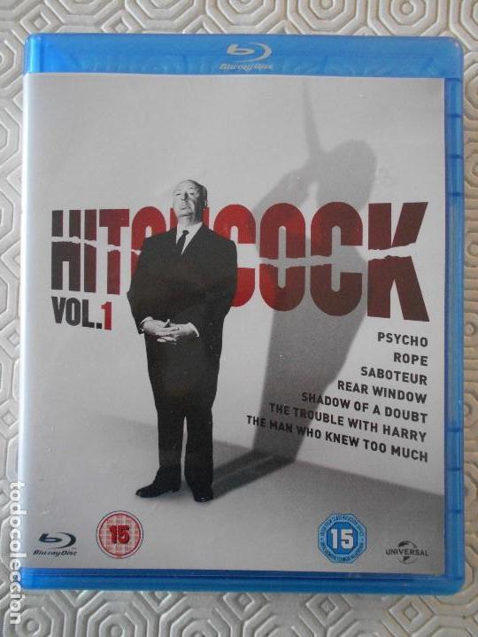 HITCHCOCK. VOL. 1. ESTUCHE CON 7 PELICULAS EN BLURAY DEL MAESTRO ALFRED HITCHCOCK: PSICOSIS. LA SOGA (Cine - Películas - Blu-Ray Disc)