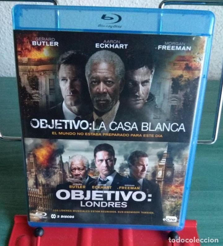 PACK OBJETIVO LA CASA BLANCA + OBJETIVO LONDRES BLU RAY (Cine - Películas - Blu-Ray Disc)
