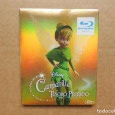 Cine: CAMPANILLA Y EL TESORO PERDIDO - CAJA DE CARTON - DISNEY - BLU RAY - PRECINTADO - NUEVO. Lote 165123566