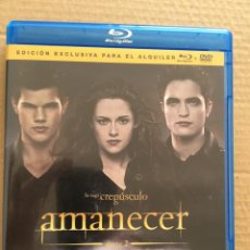 Cine: DVD DOBLE-BLU RAY-CREPUSCULO-AMANECER. Lote 165841706