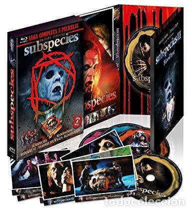 SAGA COMPLETA SUBSPECIES EDICION LIMITADA 5 BLU-RAY DISC + POSTALES TERROR NUEVO PRECINTADO (Cine - Películas - Blu-Ray Disc)