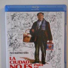 Cine: LA CIUDAD NO ES PARA MI. BLURAY DE LA PELICULA DE PEDRO LAZAGA. CON PACO MARTINEZ SORIA, DORIS COLL,. Lote 167736860
