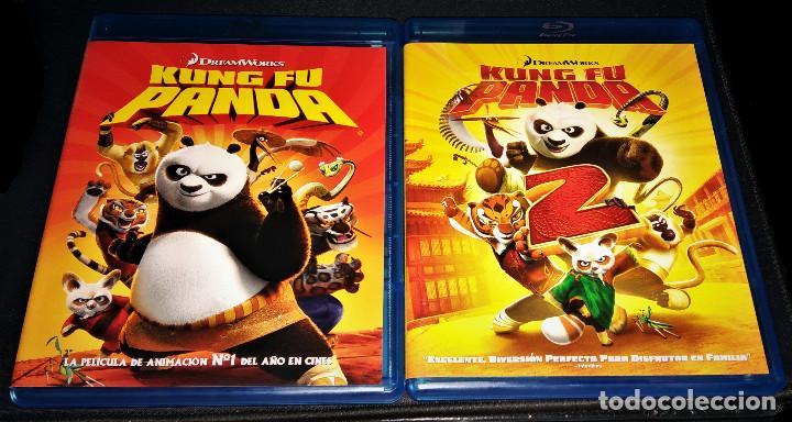 KUNG FU PANDA 1 + 2 LOTE PACK BLURAY - COMO NUEVO - BLU-RAY BLU RAY KUNGFU (Cine - Películas - Blu-Ray Disc)