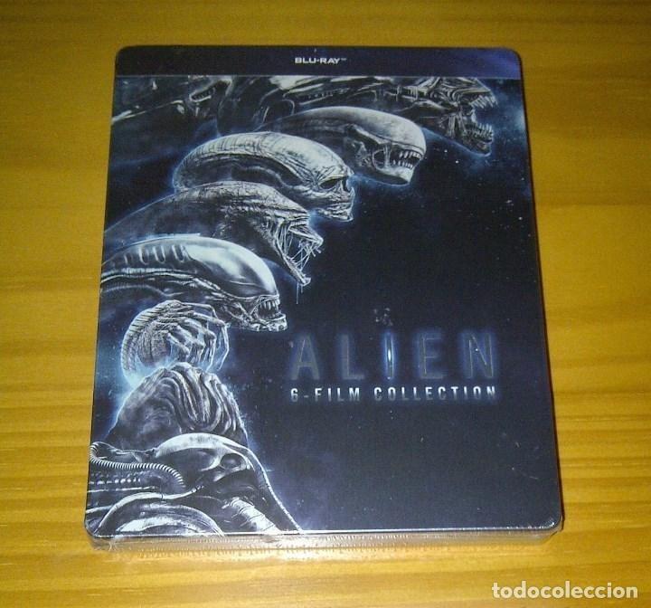 ALIEN LA SAGA COMPLETA STEELBOOK 6 BLU-RAY ALIENS COVENANT NUEVO PRECINTADO (Cine - Películas - Blu-Ray Disc)