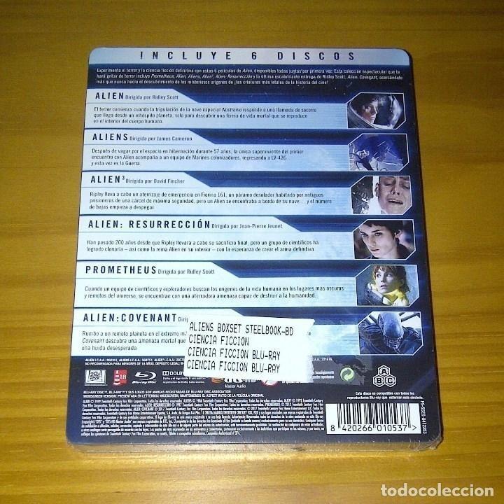 Cine: ALIEN LA SAGA COMPLETA STEELBOOK 6 BLU-RAY ALIENS COVENANT NUEVO PRECINTADO - Foto 2 - 173453520