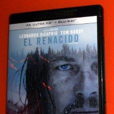 Cine: BLU-RAY + 4K ULTRA HD - EL RENACIDO - LEONARDO DI CAPRIO. TOM HARDY - PELÍCULA FILM - IÑARRITU. Lote 173573772