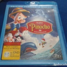 Cine: DVD PACK COMBO EDICION PLATINO DISNEY ( PINOCHO -70 ANIVERSARIO) 2 DISCOS BLU RAY + DVD DINEY 2008. Lote 174024609