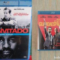 Cine: PACK ACCION BLU RAY: EL INVITADO + EL OTRO GUARDAESPALDAS. Lote 172226455