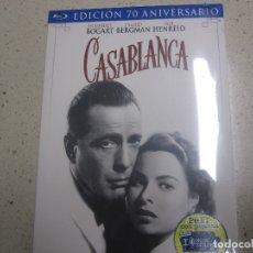 Cine: CASABLANCA EDICION 70 ANIVERSARIO BLU RAY NUEVA PLASTIFICADA 3 DISCOS . Lote 175360159