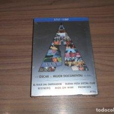 Cine: 5 BLU-RAY DISC EL VIAJE DEL EMPERADOR - BUENAVISTA SOCIAL CLUB - RESTREPO - MAN ON WIRE.. PRECINTADO. Lote 191308960