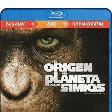 Cine: EL ORIGEN DEL PLANETA DE LOS SIMIOS (BLU-RAY+DVD+COPIA DIGITAL). Lote 177446898
