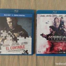 Cine: PACK ACCIÓN BLU RAY: AMERICAN ASSASSIN + EL CONTABLE // PROMOCIÓN EN LOS ENVÍOS. LEER DESCRIPCIÓN. Lote 178571917