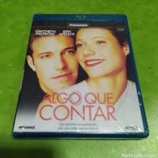 Cine: (BR27) ALGO QUE CONTAR BLU-RAY PRECINTADO. Lote 184082681