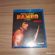 Cine: RAMBO LA TRILOGIA 3 BLU-RAY DISC STALLONE NUEVO PRECINTADO. Lote 234803230
