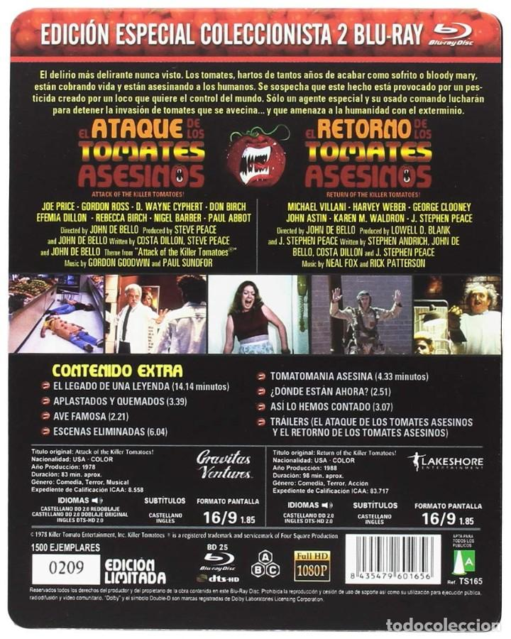 Cine: EL ATAQUE DE LOS TOMATES ASESINOS + EL RETORNO DE LOS TOMATES ASESINOS - PRECINTADA - Foto 2 - 185660258