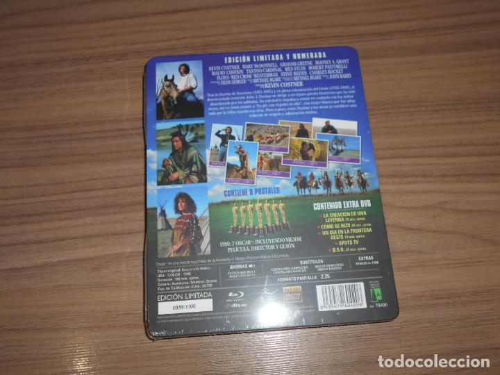 Cine: BAILANDO CON LOBOS Edicion Limitada Numerada METALICA BLU-RAY DISC + DVD + POSTALES Nuevo PRECINTADO - Foto 2 - 237579605