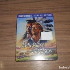 Cine: BAILANDO CON LOBOS EDICION LIMITADA NUMERADA METALICA BLU-RAY DISC + DVD + POSTALES NUEVO PRECINTADO. Lote 237579605