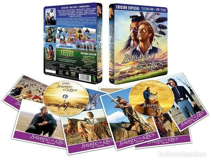 Cine: BAILANDO CON LOBOS Edicion Limitada Numerada METALICA BLU-RAY DISC + DVD + POSTALES Nuevo PRECINTADO - Foto 3 - 237579605