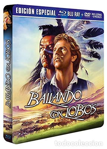 Cine: BAILANDO CON LOBOS Edicion Limitada Numerada METALICA BLU-RAY DISC + DVD + POSTALES Nuevo PRECINTADO - Foto 4 - 237579605