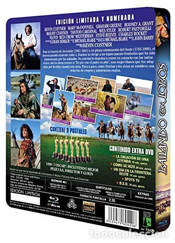 Cine: BAILANDO CON LOBOS Edicion Limitada Numerada METALICA BLU-RAY DISC + DVD + POSTALES Nuevo PRECINTADO - Foto 5 - 237579605