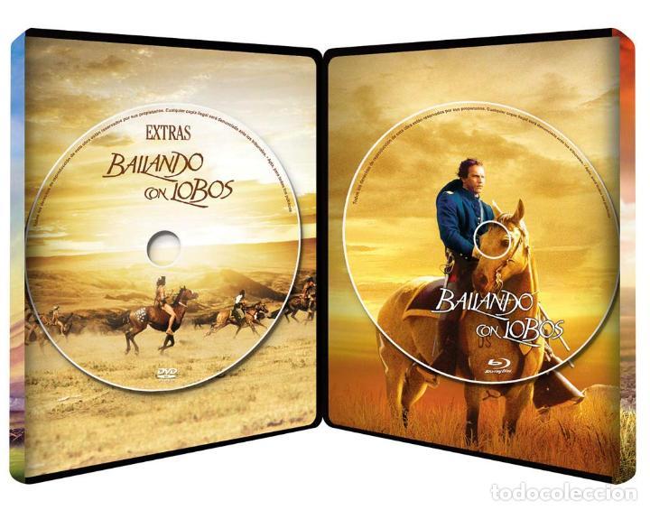 Cine: BAILANDO CON LOBOS Edicion Limitada Numerada METALICA BLU-RAY DISC + DVD + POSTALES Nuevo PRECINTADO - Foto 7 - 237579605
