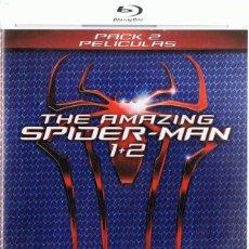 Cine: THE AMAZING SPIDER - MAN 1 + 2 ( 2 BLU - RAY). Lote 194214561