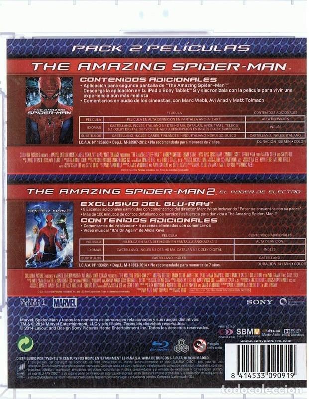 Cine: THE AMAZING SPIDER - MAN 1 + 2 ( 2 BLU - RAY) - Foto 2 - 194214561