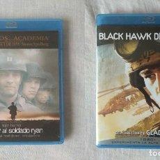 Cine: PACK BÉLICO BLU RAY: BLACK HAWK DERRIBADO + SALVAR AL SOLDADO RYAN // PROMOCIÓN EN LOS ENVÍOS. Lote 186291325