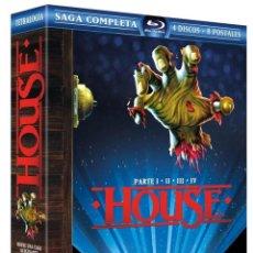 Cine: HOUSE SAGA COMPLETA - PACK PRECINTADO CON LAS 4 PELICULAS EN 4 BLURAYS + 8 POSTALES. Lote 198303582