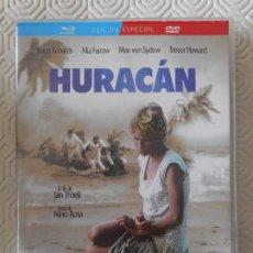 Cine: HURACAN. BLURAY Y DVD DE LA PELICULA DE JAN TROELL. CON JASON ROBARDS, MIA FARROW, MAX VON SYDOW Y T. Lote 201226247