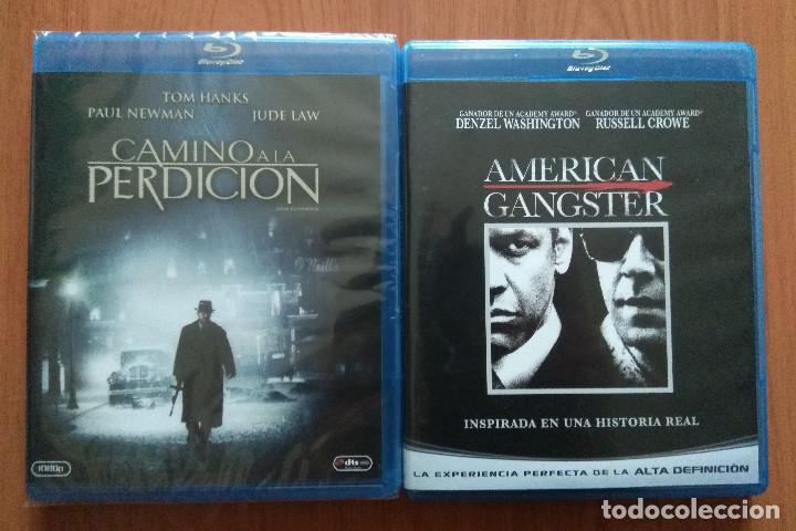 ENVIO INCLUIDO // LOTE BLU RAY: CAMINO A LA PERDICION Y AMERICAN GANGSTER (Cine - Películas - Blu-Ray Disc)