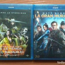 Cine: ENVIO INCLUIDO // LOTE BLU RAY: LA GRAN MURALLA Y 47 RONIN LA LEYENDA DEL SAMURAI. Lote 202705135