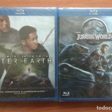 Cine: ENVIO INCLUIDO // LOTE BLU RAY: AFTER EARTH Y JURASSIC WORLD. Lote 202841802