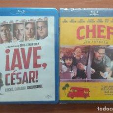 Cine: ENVIO INCLUIDO // LOTE BLU RAY: AVE CESAR Y CHEF. Lote 202842201