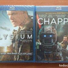 Cine: ENVIO INCLUIDO // LOTE BLU RAY: CHAPPIE Y ELYSIUM. Lote 202842736