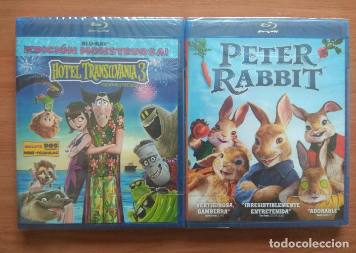 ENVIO INCLUIDO // LOTE BLU RAY: HOTEL TRANSILVANIA 3 UNAS VACACIONES MONSTRUOSAS Y PETER RABBIT (Cine - Películas - Blu-Ray Disc)