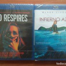 Cine: ENVIO INCLUIDO // LOTE BLU RAY: NO RESPIRES E INFIERNO AZUL. Lote 202849422