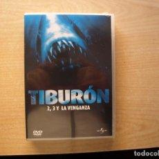 Cine: TIBURON - 2- 3 Y LA VENGANZA - 3 PELICULAS - PRECINTADO - SIN USAR. Lote 204832735