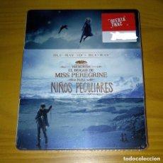 Cine: EL HOGAR DE MISS PEREGRINE PARA NIÑOS PECULIARES STEELBOOK BLU-RAY + 3D NUEVO PRECINTADO. Lote 205757937