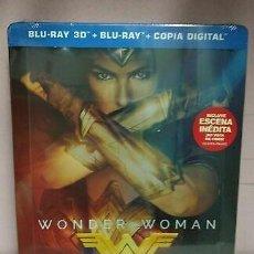 Cine: WONDER WOMAN STEELBOOK BLU-RAY + 3D NUEVO PRECINTADO. Lote 205758016