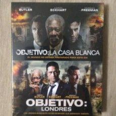 Cine: ENVIO INCLUIDO // BLU RAY PACK OBJETIVO LA CASA BLANCA Y LONDRES. Lote 207408607