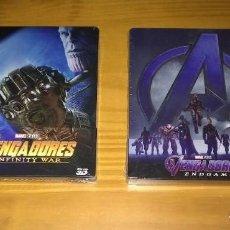 Cine: LOS VENGADORES: INFINITY WAR + ENDGAME STEELBOOK BLU-RAY + 3D EDICIONES ESPAÑOLAS PRECINTADO. Lote 209655926