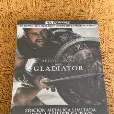 Cine: GLADIATOR STEELBOOK 4K + BLU RAY + BLU-RAY DE EXTRAS PRECINTADO. Lote 210037726
