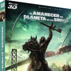 Cine: EL AMANECER DEL PLANETA DE LOS SIMIOS (BLU-RAY 3D + BLU-RAY) (DAWN OF THE PLANET OF THE APES). Lote 210292555