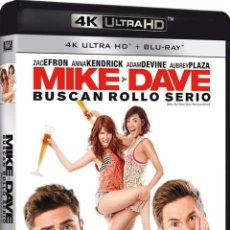 Cine: MIKE Y DAVE BUSCAN ROLLO SERIO (BLU-RAY 4K ULTRA HD + BLU-RAY) (MIKE AND DAVE NEED WEDDING DATES). Lote 210293468